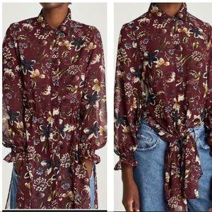 NWT Zara Floral Long Sleeve Tunic
